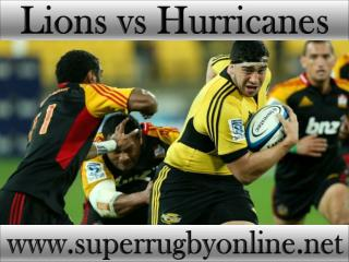 watch Lions vs Hurricanes