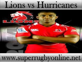 live Lions vs Hurricanes