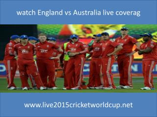 watch England vs Australia live cricket online