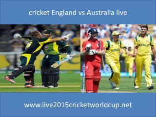 Watch Australia vs England Live Cricket