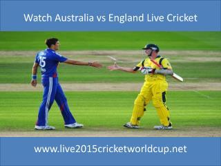 Watch Australia vs England online cricket