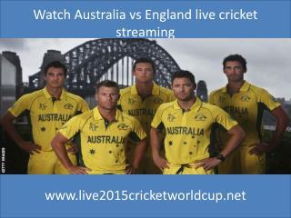 stream cricket Australia vs England