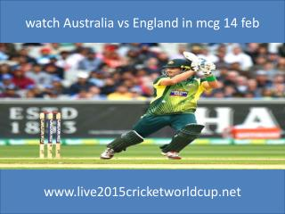 watch Australia vs England cricket in mcg ground feb 14