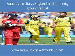 watch Australia vs England cricket in mcg ground feb 14