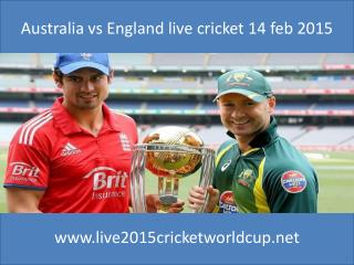 Australia vs England live cricket 14 feb 2015
