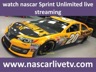 watch nascar Sprint Unlimited live streaming