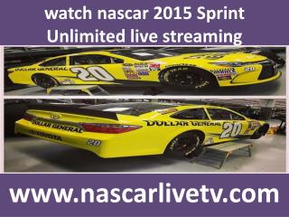 watch nascar 2015 Sprint Unlimited race live streaming