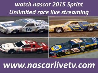Live Nascar 2015 Sprint Unlimited Online