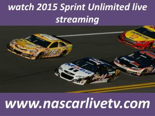 watch live nascar Sprint Unlimited Stream