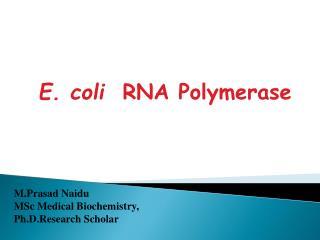 ECOLI RNA POLYMERASE
