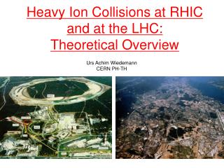 Heavy Ion Collisions at RHIC and at the LHC:  Theoretical Overview