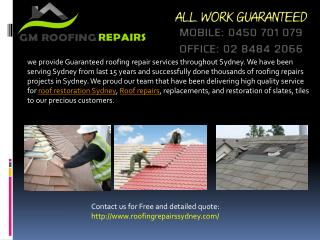 Instruction for slate Roof Restoration in Sydney