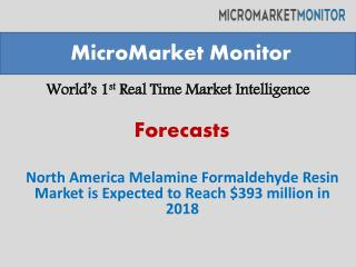 North America Melamine Formaldehyde Resin Market is Expected