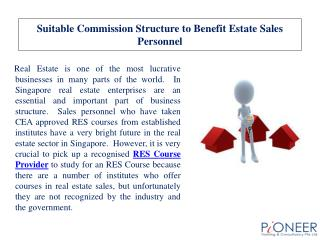 Suitable Commission Structure to Benefit Estate Sales Person