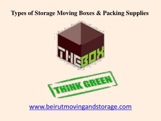 Types of Beirut Storage Moving Boxes and Packing Supplies