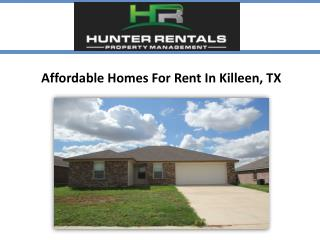 Affordable Homes For Rent in Killeen, TX