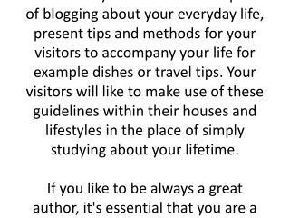 Smarter Methods To Create Blogging Meet Your Needs
