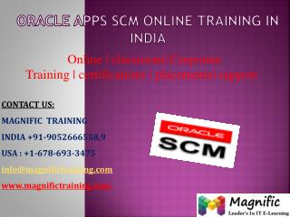 Oracle apps scm online training in india
