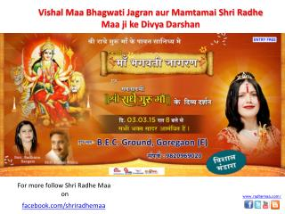DivyaDarshan of Shri Radhe Maa on 3rd March 2015 in Mumbai