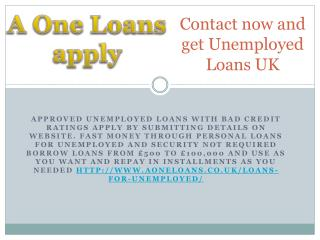 Fastest Cash with Unsecured Unemployed Loans