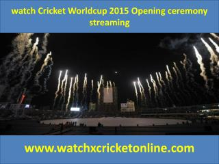 watch Cricket Worldcup 2015 Opening ceremony streaming