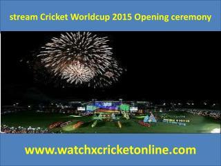 stream Cricket Worldcup 2015 Opening ceremony