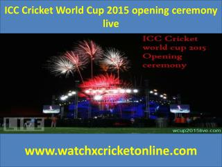 ICC Cricket World Cup 2015 opening ceremony live