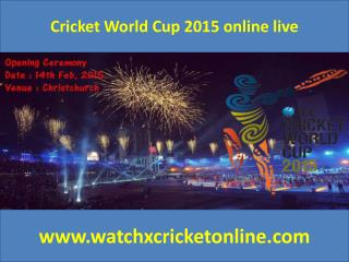 Cricket World Cup 2015 online live