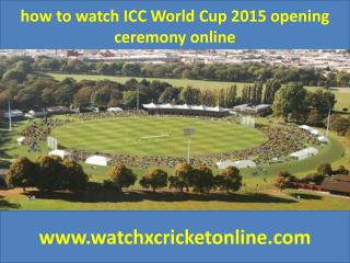 how to watch ICC World Cup 2015  online