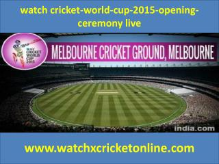 watch cricket-world-cup-2015 live