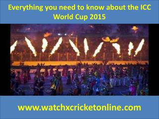 Everything you need to know about the ICC World Cup 2015