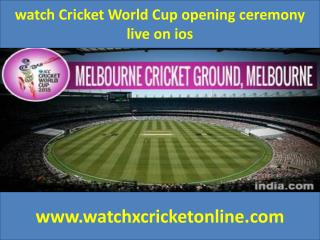 watch Cricket World Cup  live on ios