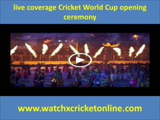 live coverage Cricket World Cup
