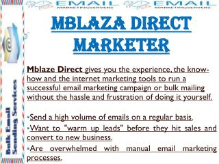 Mblaza Direct Marketer