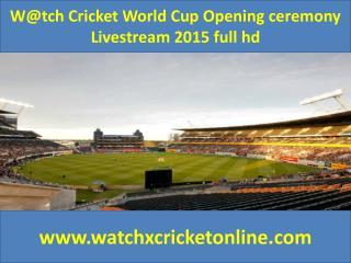 W@tch Cricket World Cup  Livestream 2015 full hd