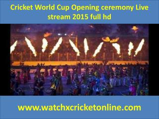 Cricket World Cup  Livestream 2015 full hd