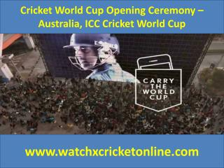 Cricket World Cup  – Australia, ICC Cricket World Cup