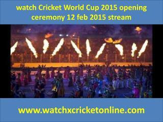 watch Cricket World Cup 2015  2015 stream