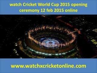 watch Cricket World Cup 2015  2015 online