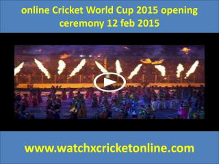 watch Cricket World Cup 2015  2015 online