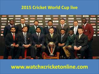 2015 Cricket World Cup live