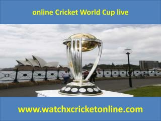 online Cricket World Cup live