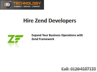 Hire Zend Developers in India, Zend Frame Work