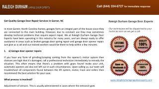 Get Quality Garage Door Repair Services in Garner, NC