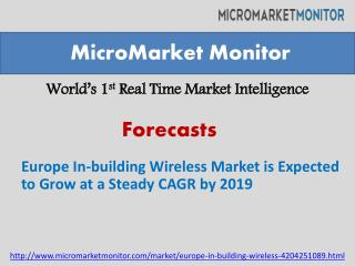 Europe In-building Wireless Market is Expected to Grow at a