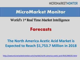 The North America Acetic Acid Market is Estimated to Grow to