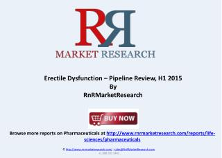 Erectile Dysfunction Therapeutic Pipeline Review 2015