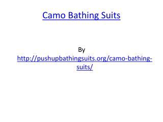 Camo Bathing Suits