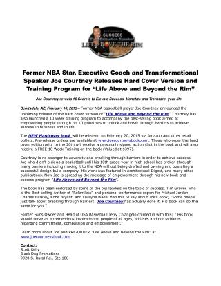 Former NBA Star, Executive Coach and Transformational