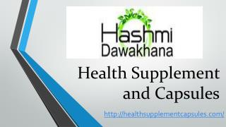 Health Supplement - Alternative Medicine